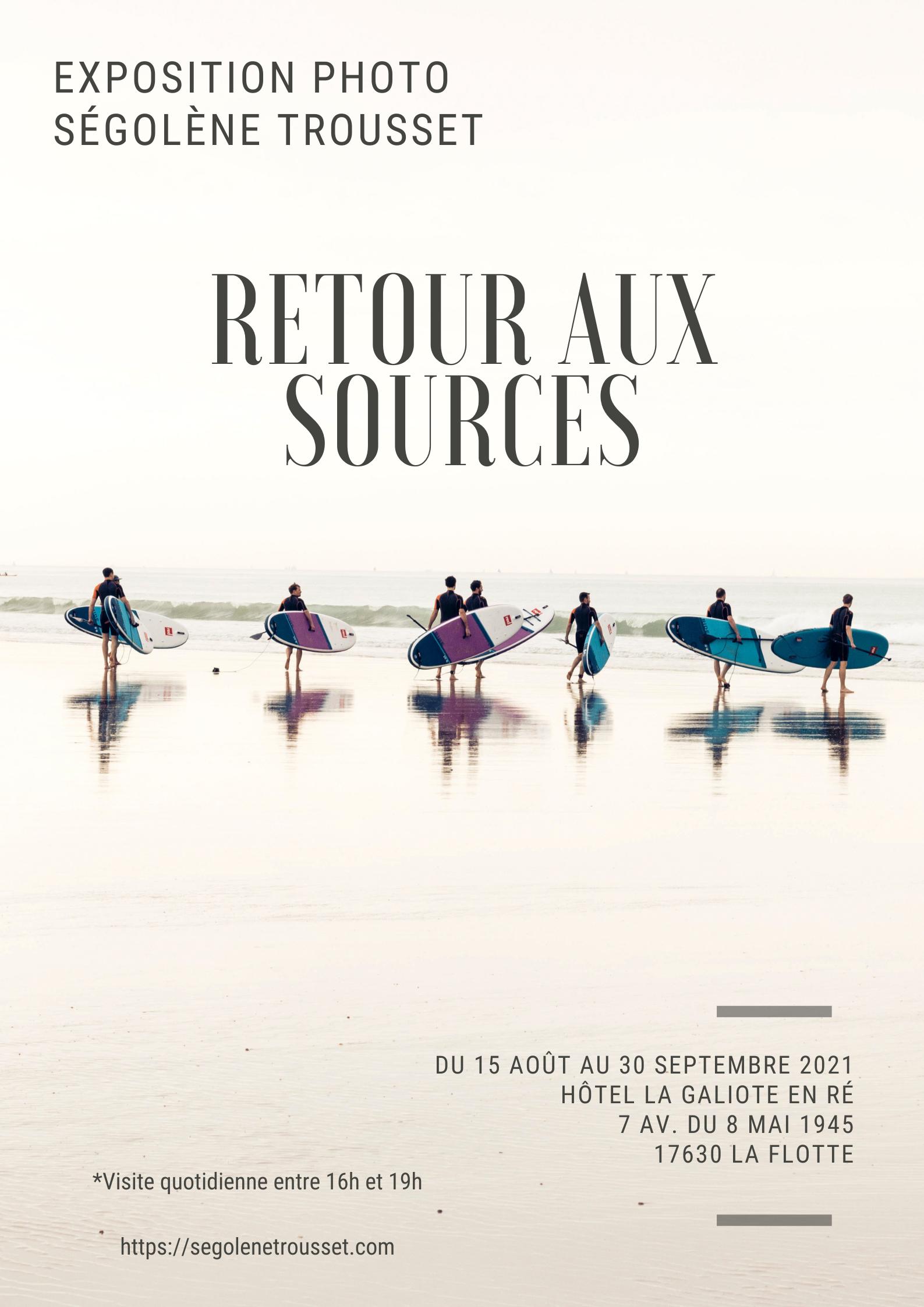 Exposition photo - Ségolène Trousset - Île de Ré